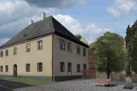 Adaptace fary v Kovářské, pohled z ulice, architekti Jan Hanzlík a Jan Kolman