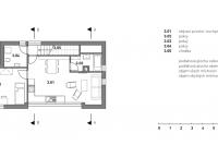 Nástavba podkroví na rodinný dům v Praze—Kyjích, půdorysy